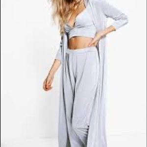 Boohoo slinky formal duster and trouser co-ord NEW